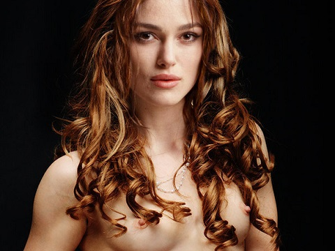 Keira Knightley shows nude tits for Playboy